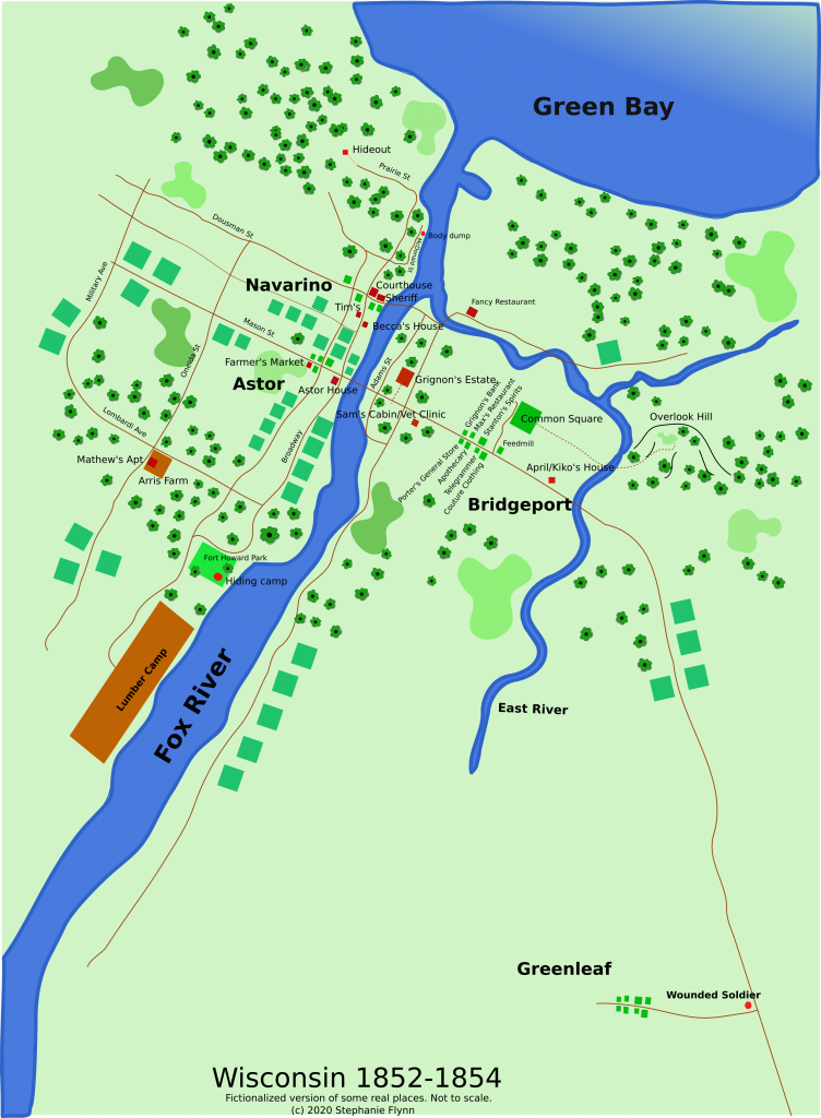 Vector Graphic of fictional Green Bay, Wisconsin map